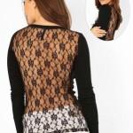 camisa feminina de renda preta 2
