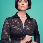 camisa feminina de renda preta 5