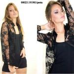 camisa feminina de renda preta 6