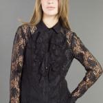 camisa feminina de renda preta 7