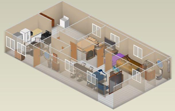 Planta de casa 3d t cnica moderna e muito til moda e for Hacer casas en 3d online