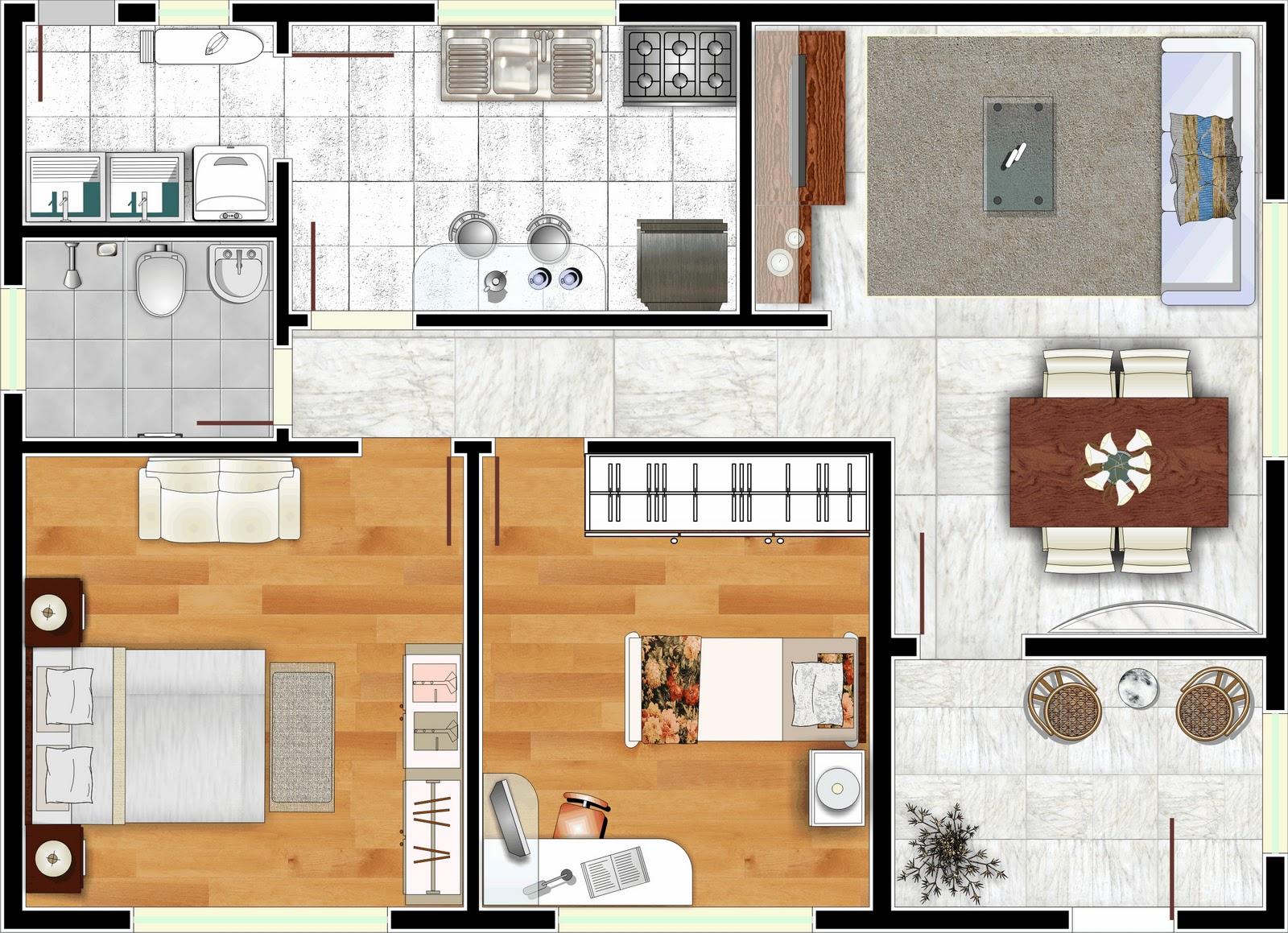 Planta de casa 3d t cnica moderna e muito til moda e for Tecnicas culinarias modernas