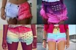 shorts feminino  colorido 2
