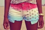shorts feminino colorido 4