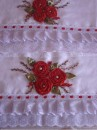 toalhas bordadas  com fitas