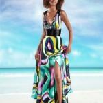 vestido longo florido de seda 1