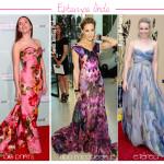vestido longo florido de seda 4