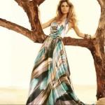 vestido longo florido de seda 5