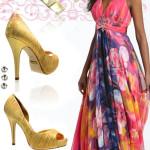 vestido longo florido de seda 7