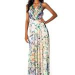 vestido longo florido de seda 8