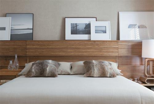 cabeceira para cama em madeira