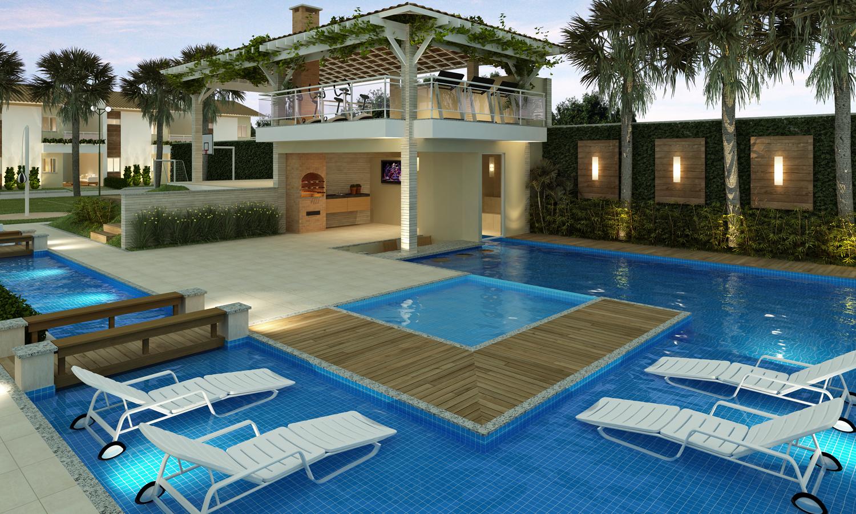 Casa com piscina descubra o conforto que pode causar for Modelos de piscinas modernas