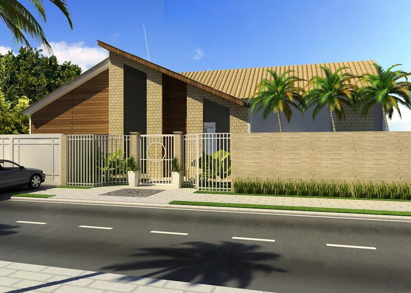 Lindos modelos de casa terrea grande e pequena moda e for Modelos de fachadas modernas