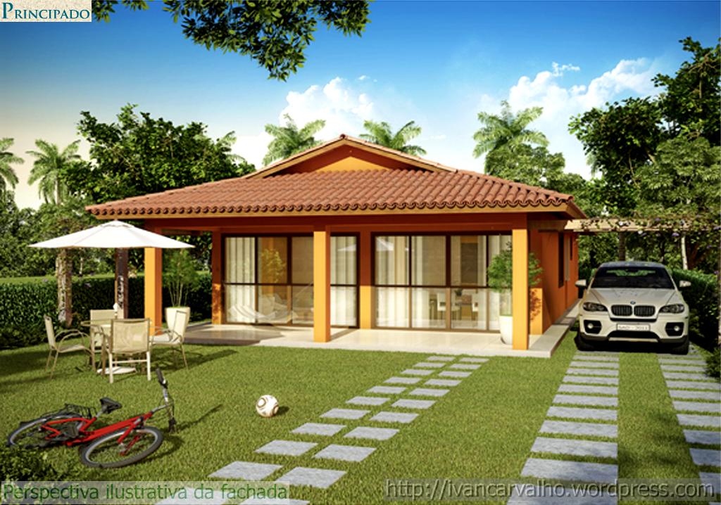 Lindos modelos de casa terrea grande e pequena moda e for Casas modernas de 70m2