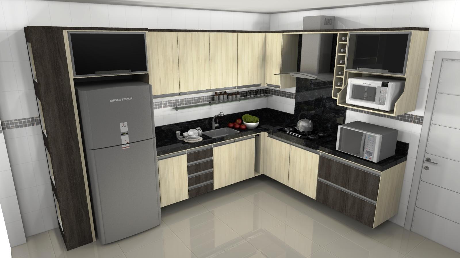Cozinha planejada para ganho de espaço e beleza Moda e ConfortoModa  #7D714E 1600 900