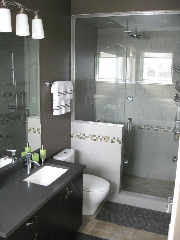 Ilumina o para banheiro pequeno como deve ser moda e for Stand up shower bathroom designs