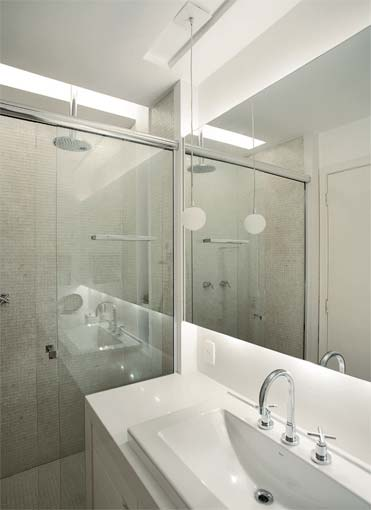 Iluminação para banheiro pequeno como deve ser?  Moda e ConfortoModa e Conforto -> Gesso Para Pia De Banheiro