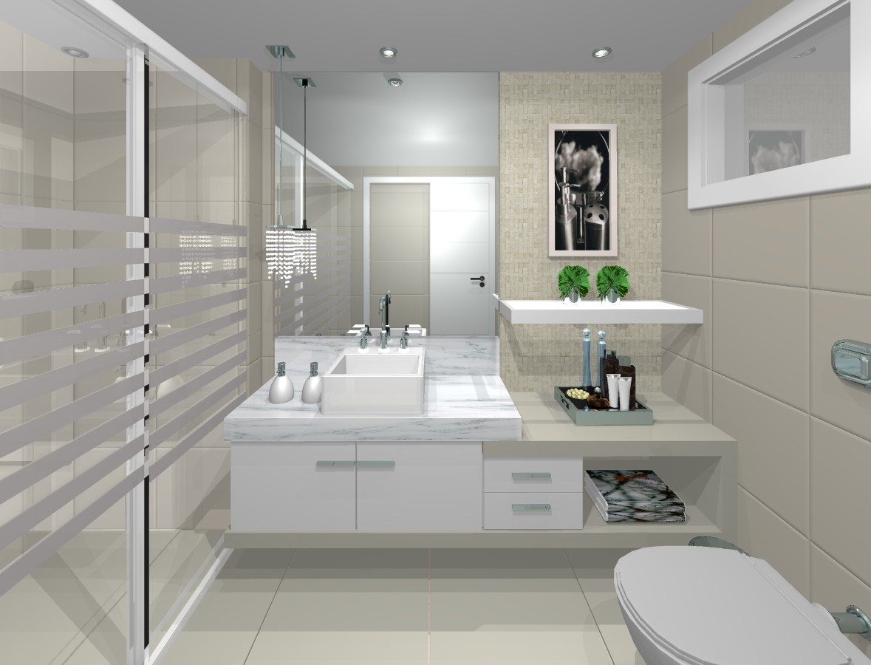 O banheiros decorados em vários estilos modernos  Moda e ConfortoModa e Conf -> Banheiros Simples Decorados Pequenos
