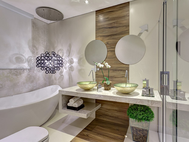 O banheiros decorados em vários estilos modernos  Moda e ConfortoModa e Conf -> Banheiros Modernos Decorados Com Pastilhas