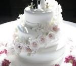 bolo de casamento com noivinhos 1