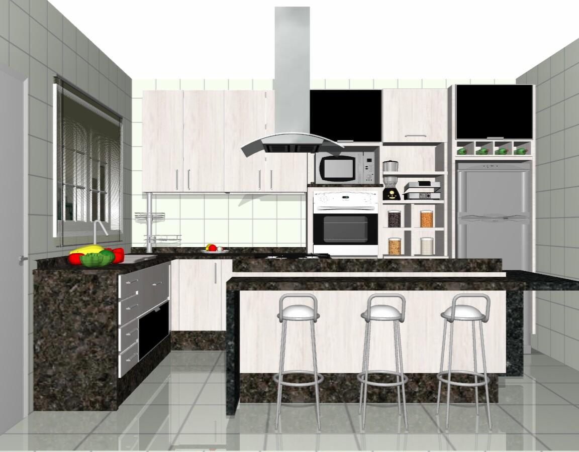 Cozinha com ilha torna o ambiente mais confortável Moda e  #C80603 1152 900