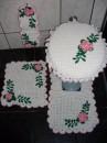 jogo de croche para banheiro 8