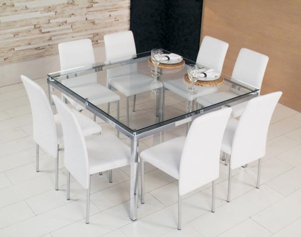 Mesa Para Sala De Jantar Com Vidro ~ Mesas de vidro que são um charme para sala de jantar  Moda e