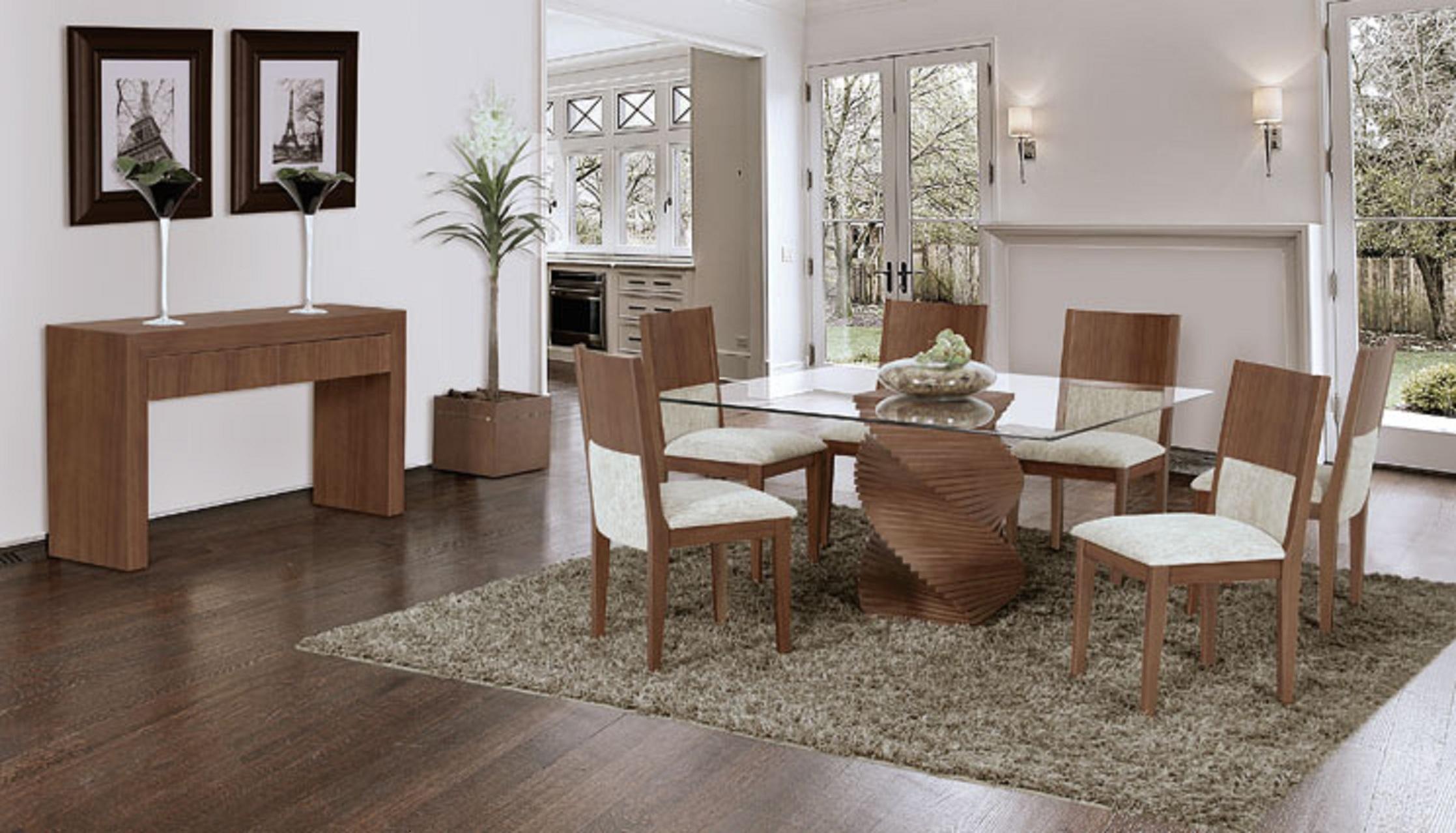 Conjunto de sala de jantar são várias peças Moda e ConfortoModa  #3D2F23 2235x1278