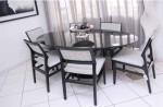 mesa de jantar oval 6
