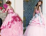vestido de noiva rosa 5