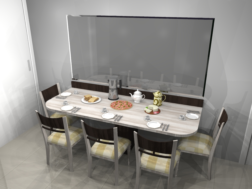 Another Image For cozinha planejada pequena com mesa embutida #8D603E 1024 768