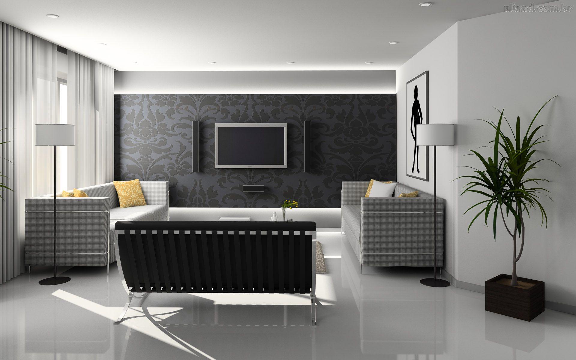 Sala de tv vamos conferir lindas fotos para ver como for Salas de television modernas