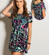vestido curto estampado 6
