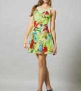 vestido curto estampado 1