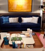 sala decorada com sofa azul 7