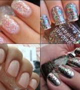 unhas decoradas com glitter prata 4