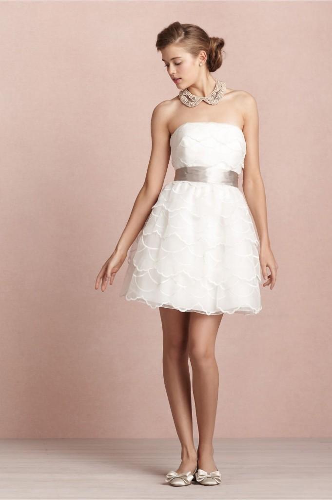 Vestido curto branco festa