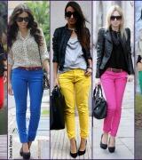 calca colorida feminina