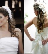 penteado meio preso para noivas 1