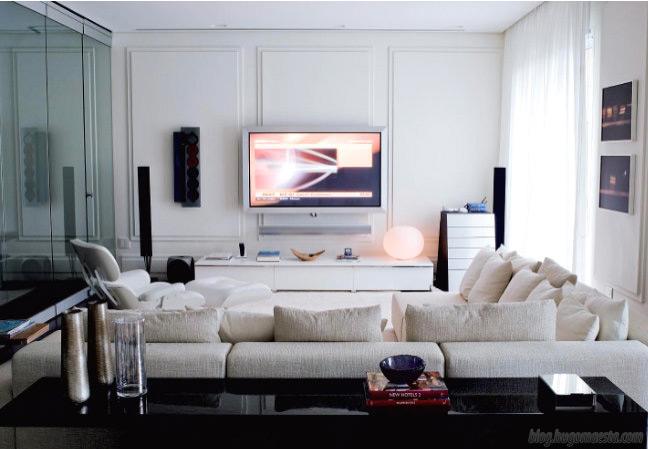 Sala Com Tv Na Parede ~ Praticidade e beleza TV na parede, dicas, posição e modelos  Moda e