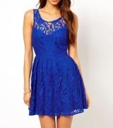 vestido azul royal de renda 1
