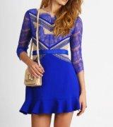 vestido azul royal de renda 3