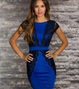 vestido azul royal de renda 8
