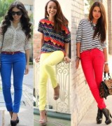 calca jeans colorida