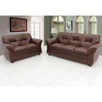 jogo de sofá de couro 1
