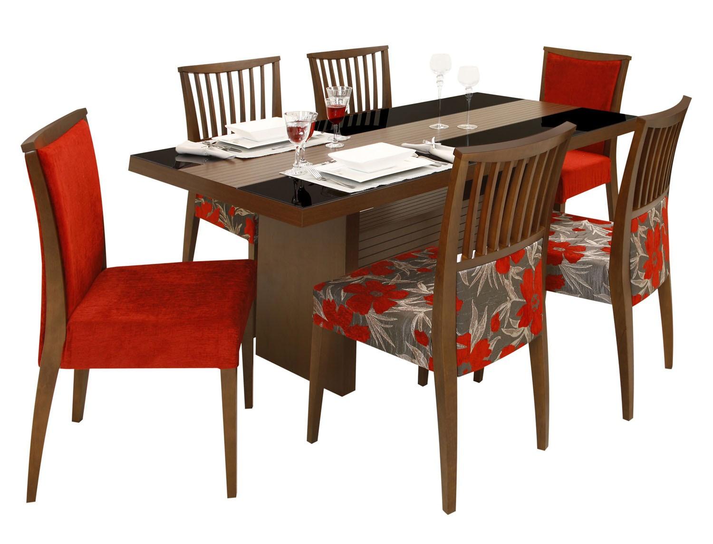 Linda mesa de jantar com 6 cadeiras confira tipos diferentes Moda  #BA260F 1500x1146