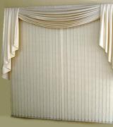 cortina persiana com bando