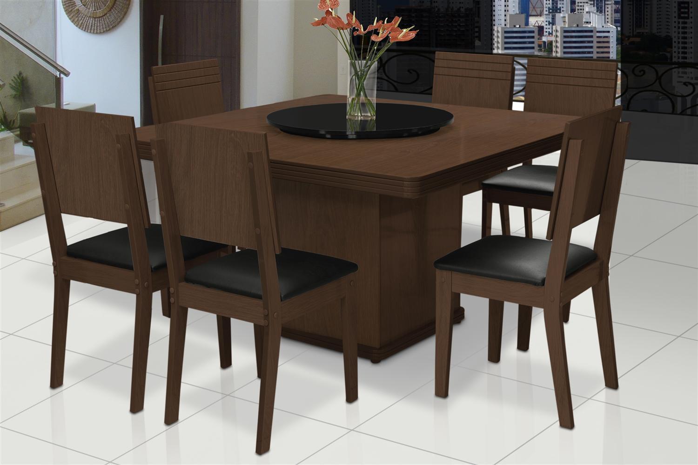 mesa de jantar com 6 cadeiras 6 #5C4333 1500x999