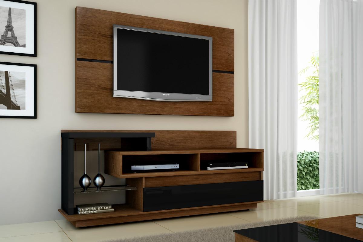 #623F22 Another Image For 15 Modelos de Decoração para Sala de TV Pequena 1200x800 píxeis em Decoração Sala Com Painel Para Tv