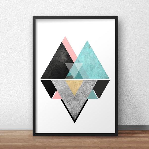quadro para sala geométrico
